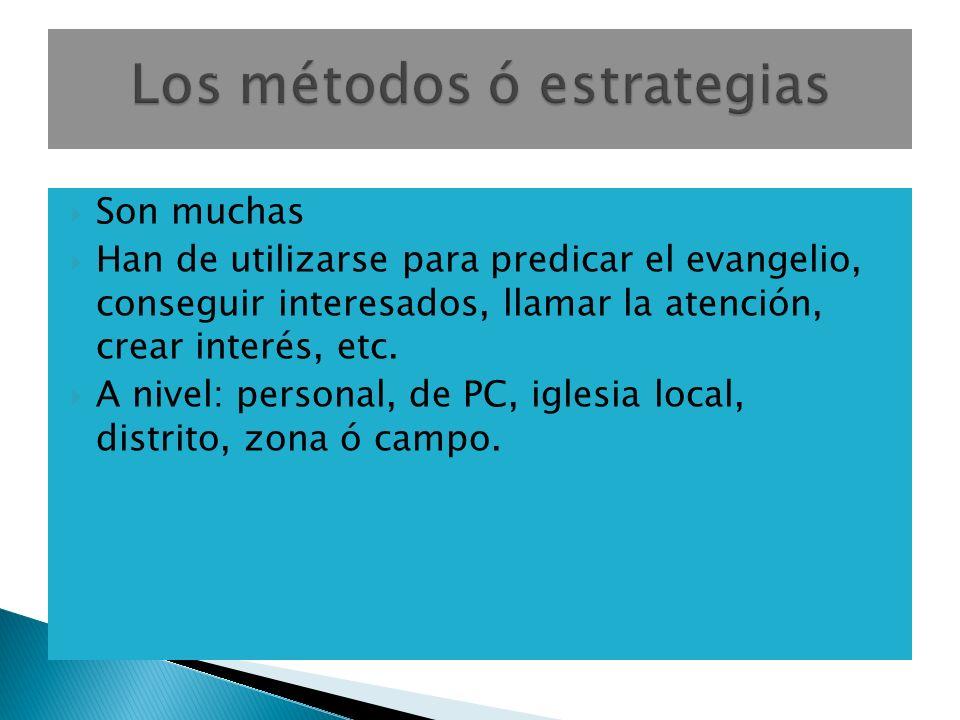 Son muchas Han de utilizarse para predicar el evangelio, conseguir interesados, llamar la atención, crear interés, etc.