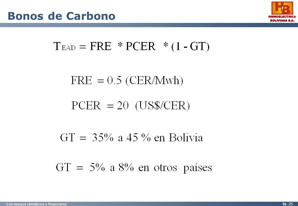 Los riesgos climáticos y financierosNr. 25 Bonos de Carbono