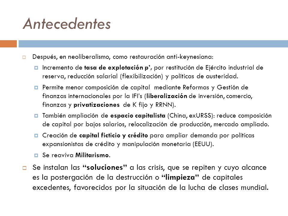 Gestación y desarrollo CEPAL, Macroeconomía del desarrollo No 44 Condiciones y políticas para la salida de recesiones en EEUU
