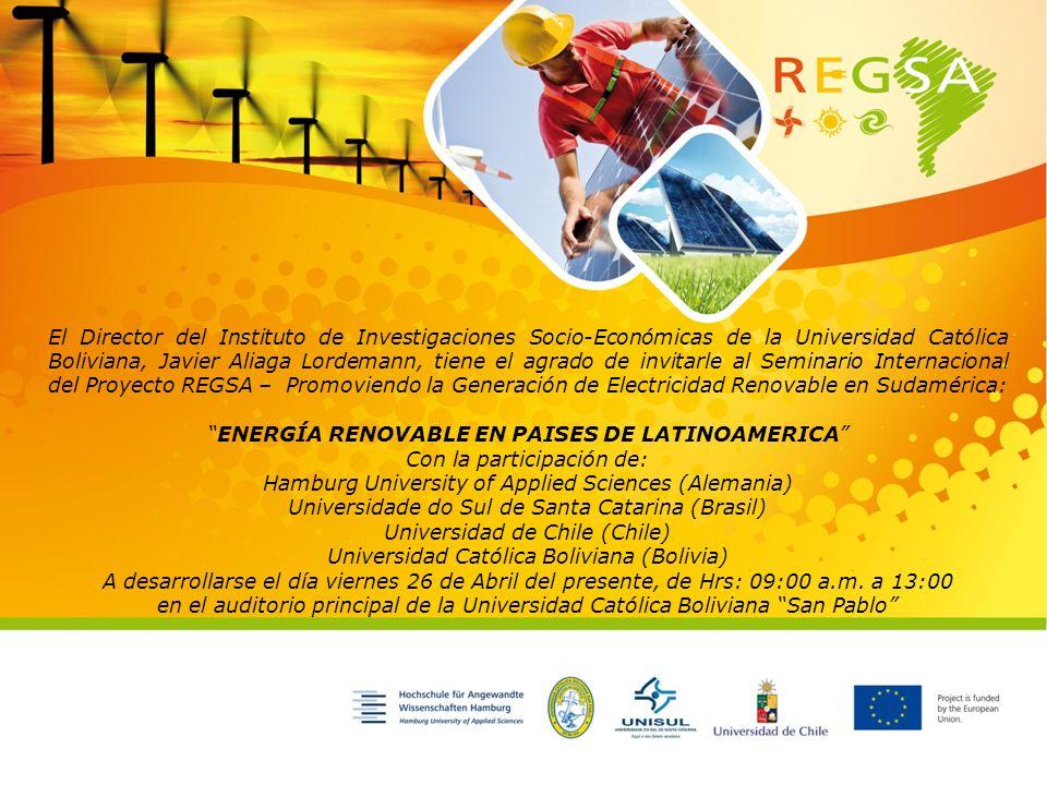 El Director del Instituto de Investigaciones Socio-Económicas de la Universidad Católica Boliviana, Javier Aliaga Lordemann, tiene el agrado de invita