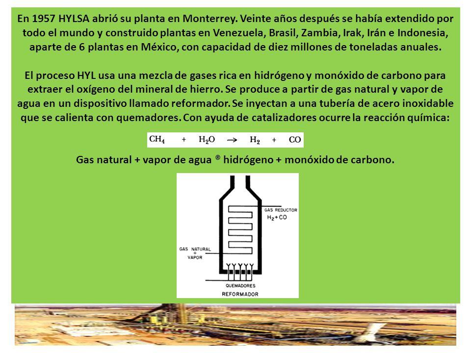 En 1957 HYLSA abrió su planta en Monterrey. Veinte años después se había extendido por todo el mundo y construido plantas en Venezuela, Brasil, Zambia