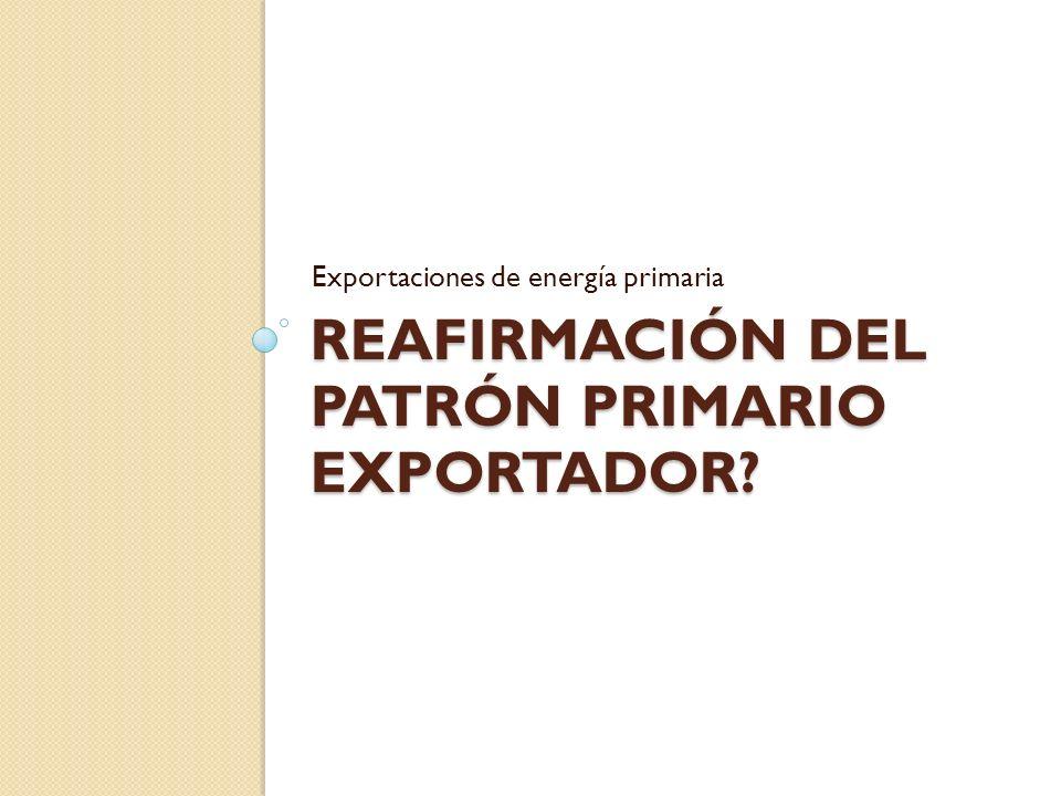 REAFIRMACIÓN DEL PATRÓN PRIMARIO EXPORTADOR? Exportaciones de energía primaria