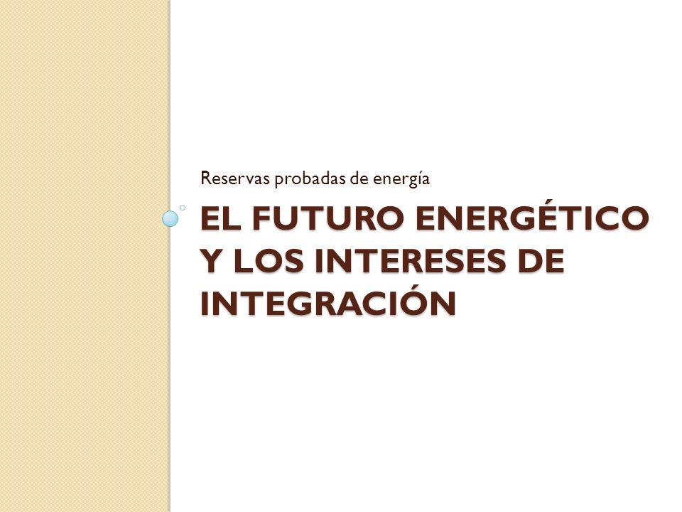 EL FUTURO ENERGÉTICO Y LOS INTERESES DE INTEGRACIÓN Reservas probadas de energía