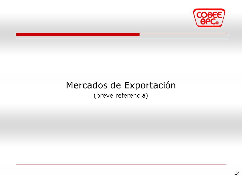 Mercados de Exportación (breve referencia) 14