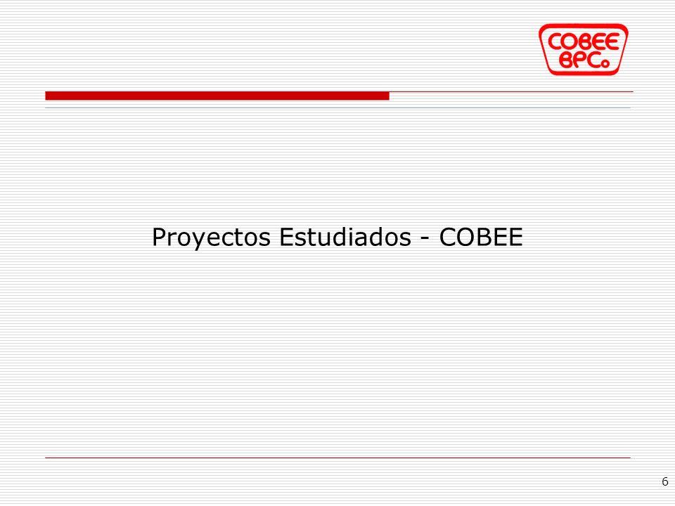 Proyectos Estudiados - COBEE 6