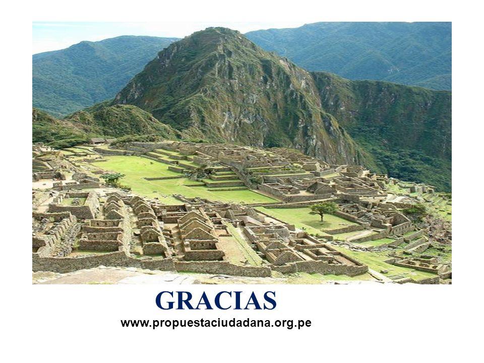 GRACIAS www.propuestaciudadana.org.pe