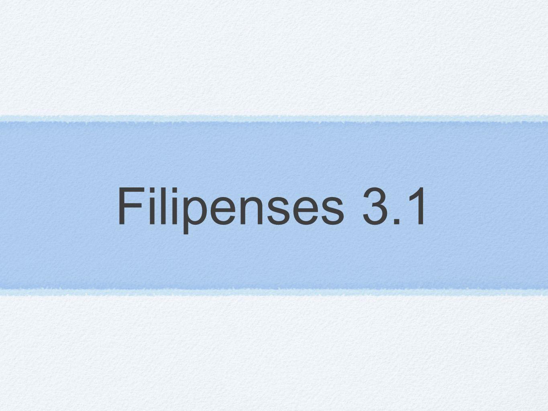 Filipenses 3.1