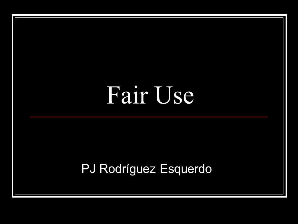 Fair Use PJ Rodríguez Esquerdo