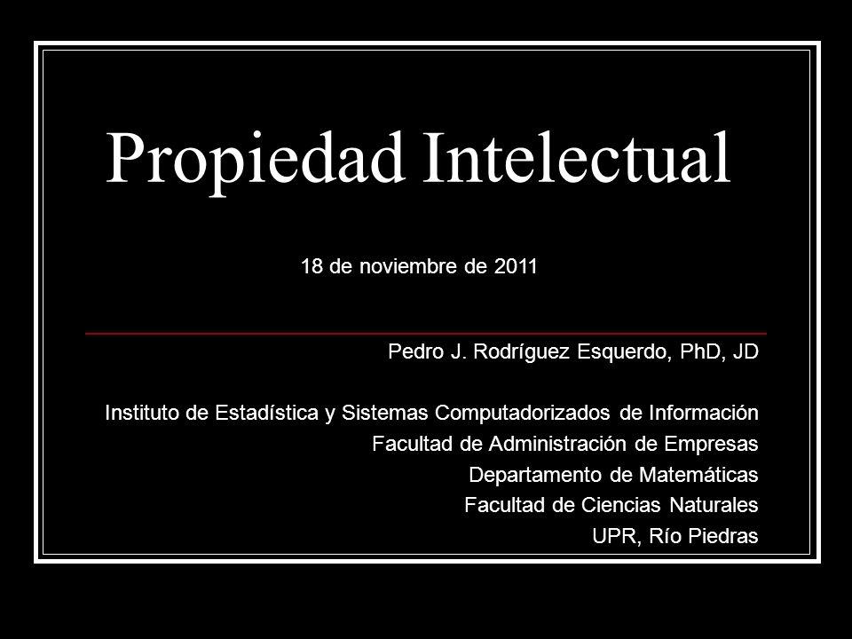 UPR Política de Patentes Cert 132, 2002-2003 Junta de Síndicos Invenciones son propiedad de la UPR: Producidas por empleados o estudiantes en el empleo o estudio; o con recursos universitarios; o auspiciados por terceros.