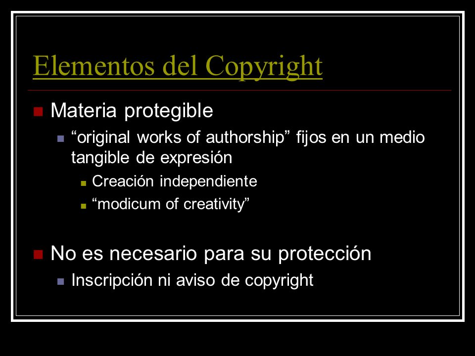 Introducción Copyright 17 USC