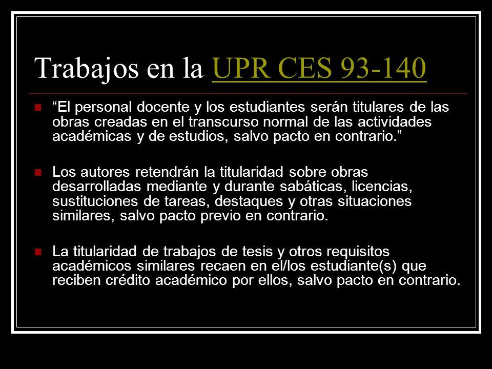 Trabajos del Gobierno de PR 2 31 L. P. R. A. § 1401(d) El titular de los derechos relativos a las creaciones de funcionarios gubernamentales en el eje