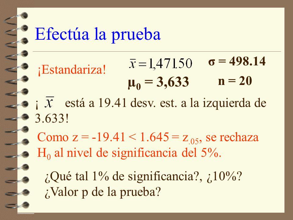 Zona de rechazo 4 Zona de rechazo: aquellos valores de z para los cuales se rechaza H 0.