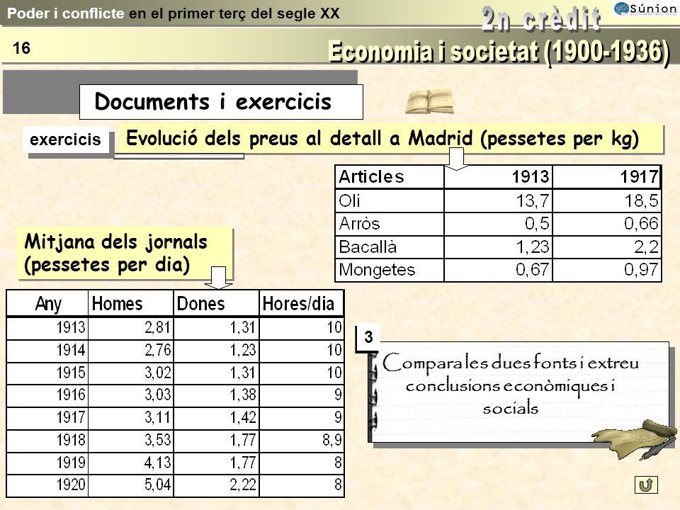 Distribució població activa Terciari Secundari Primari Catalunya1930 Espanya1930 1900 Poder i conflicte en el primer terç del segle XX 15 Documents i