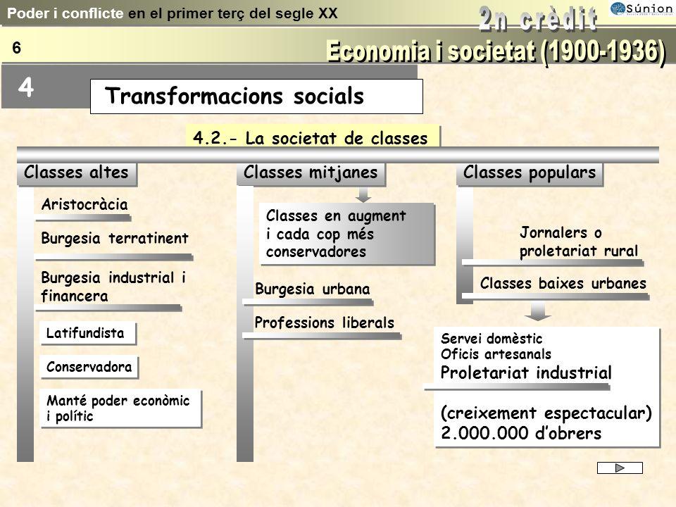 D 18 milions a 23 milions al llarg del període D 18 milions a 23 milions al llarg del període 4.1.- Levolució demogràfica Creixement sostingut Concent