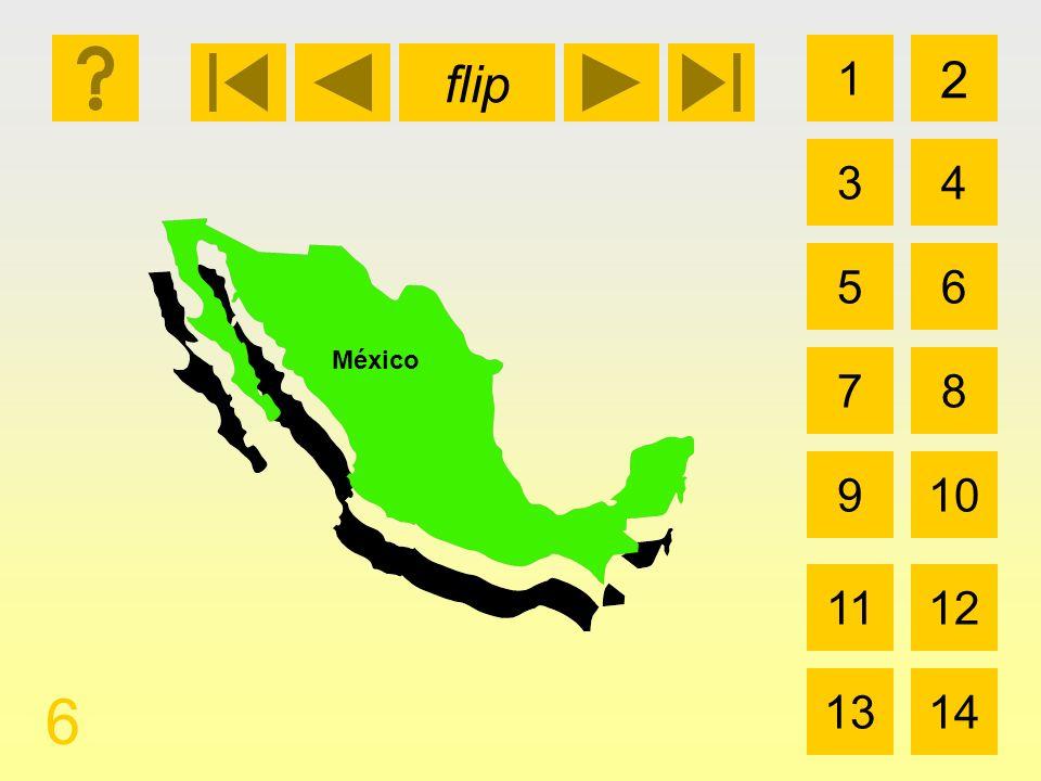 flip 1 3 2 4 5 7 6 8 910 1112 1314 6 México