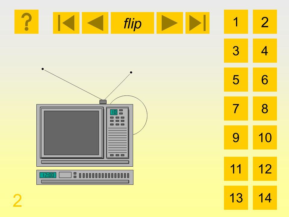 1 3 2 4 5 7 6 8 910 1112 1314 flip 2 la televisión y la videograbadora