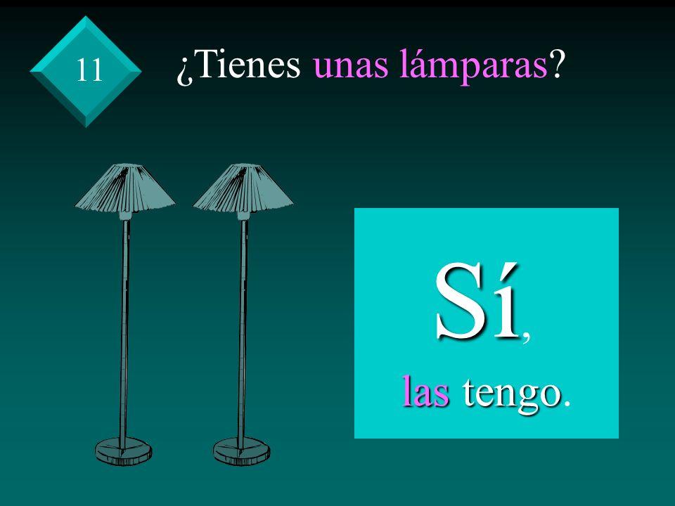 ¿Tienes unas lámparas? Sí, las tengo las tengo. 11
