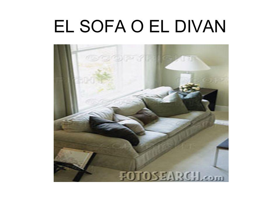 EL SOFA O EL DIVAN