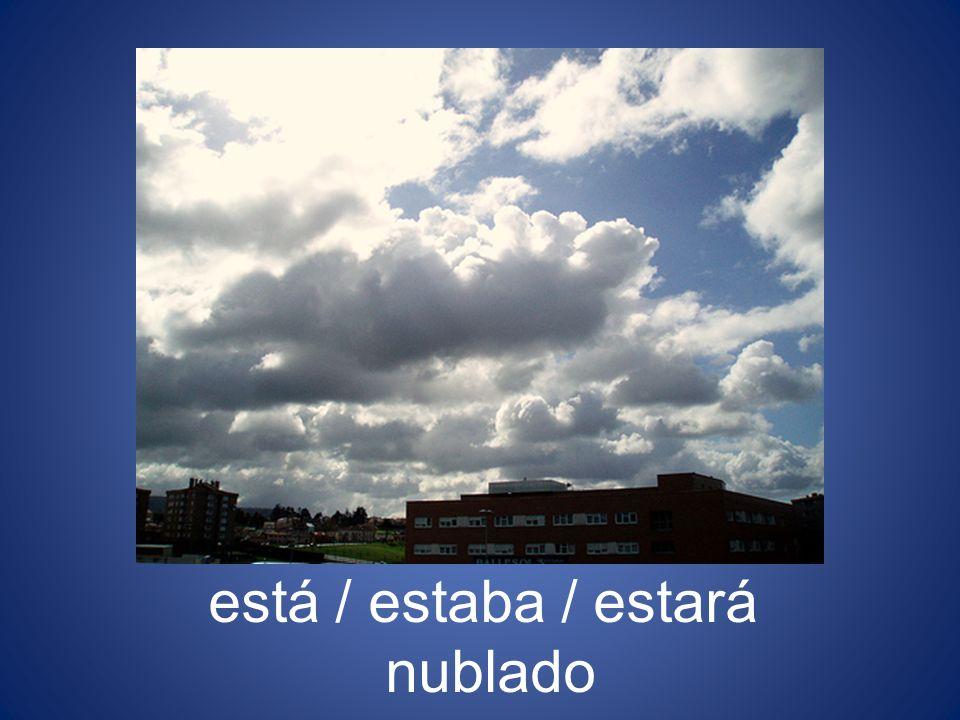 está / estaba / estará nublado