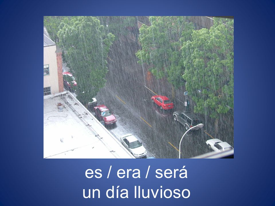 es / era / será un día lluvioso