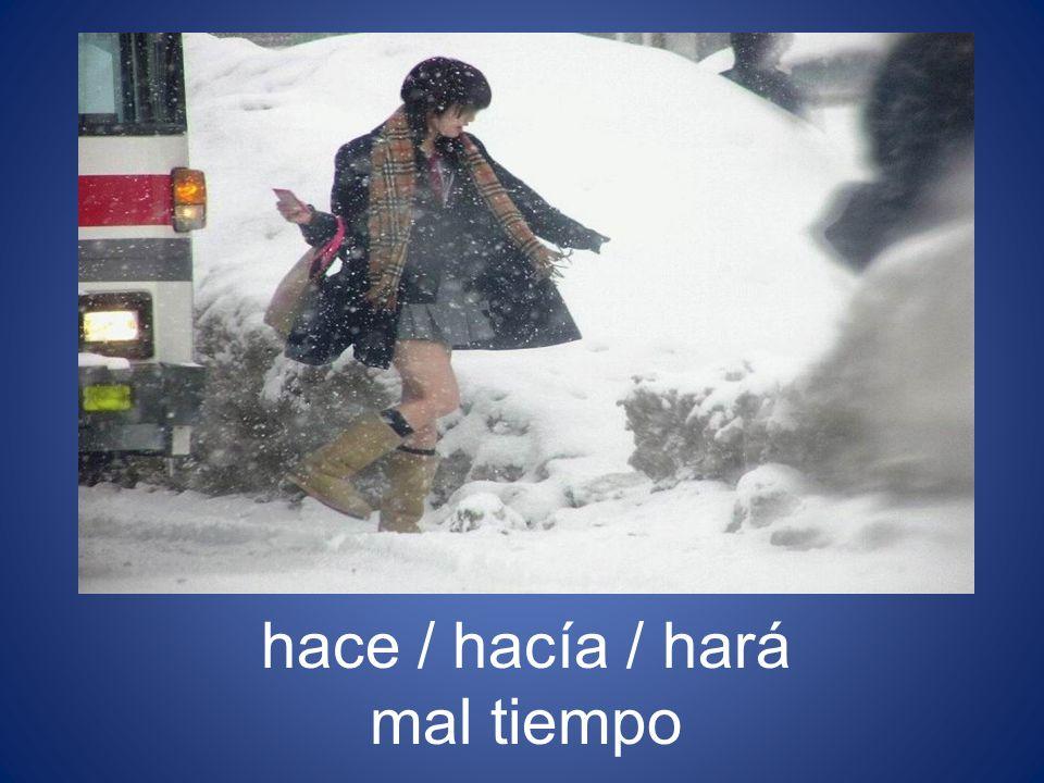 hace / hacía / hará mal tiempo