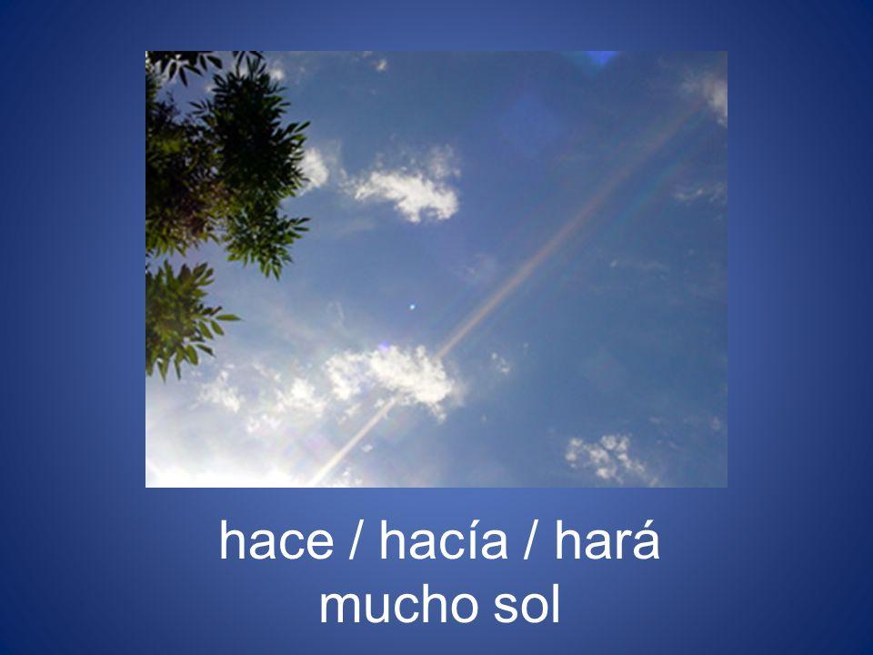es / era / será un día nublado