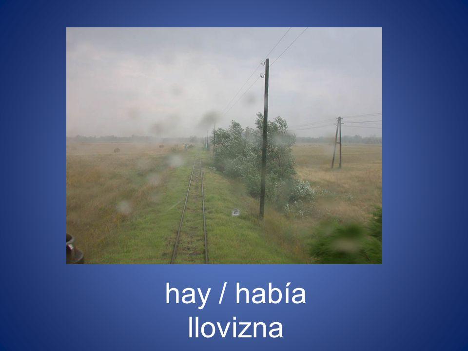 hay / había llovizna