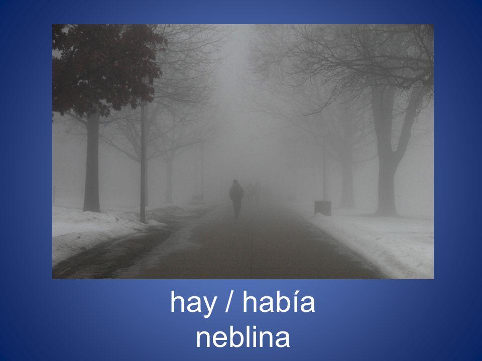 hay / había neblina