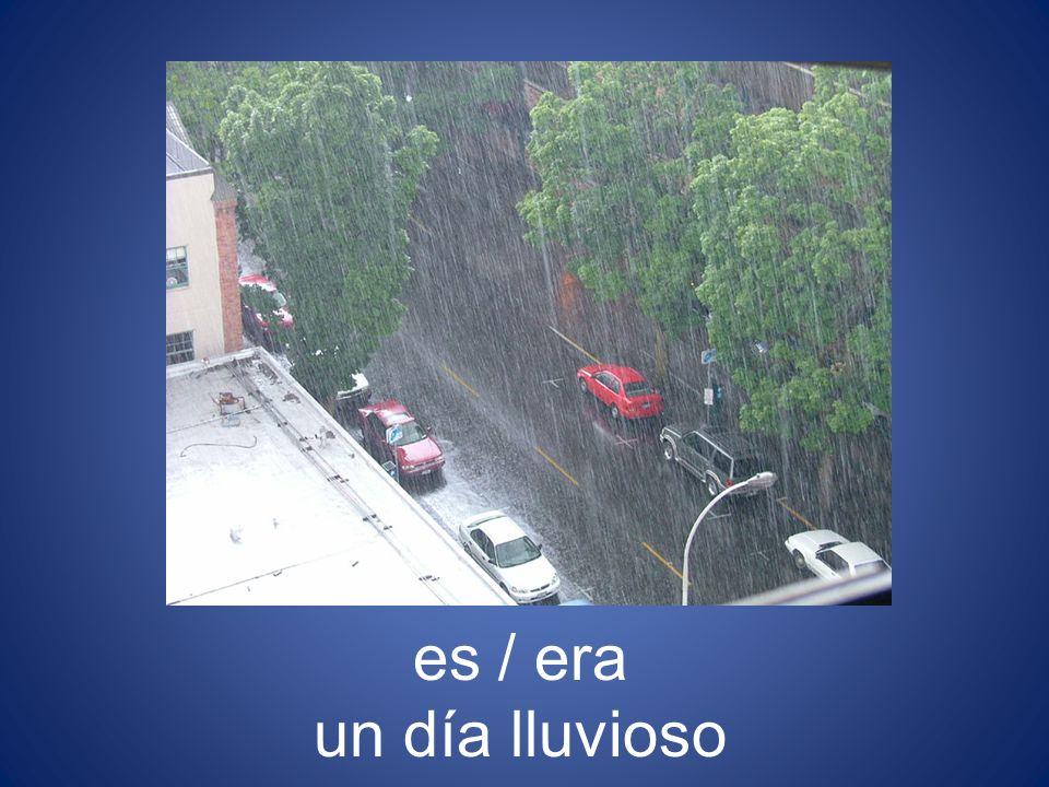 es / era un día lluvioso