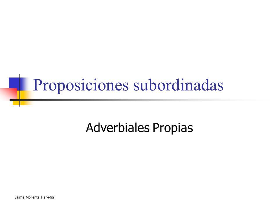 Sustantivas o completivas Subordinadas sustantivas : equivalen a un sustantivo. Funciones (respecto al verbo principal) : Sujeto. O.D. Atributo. Tipos