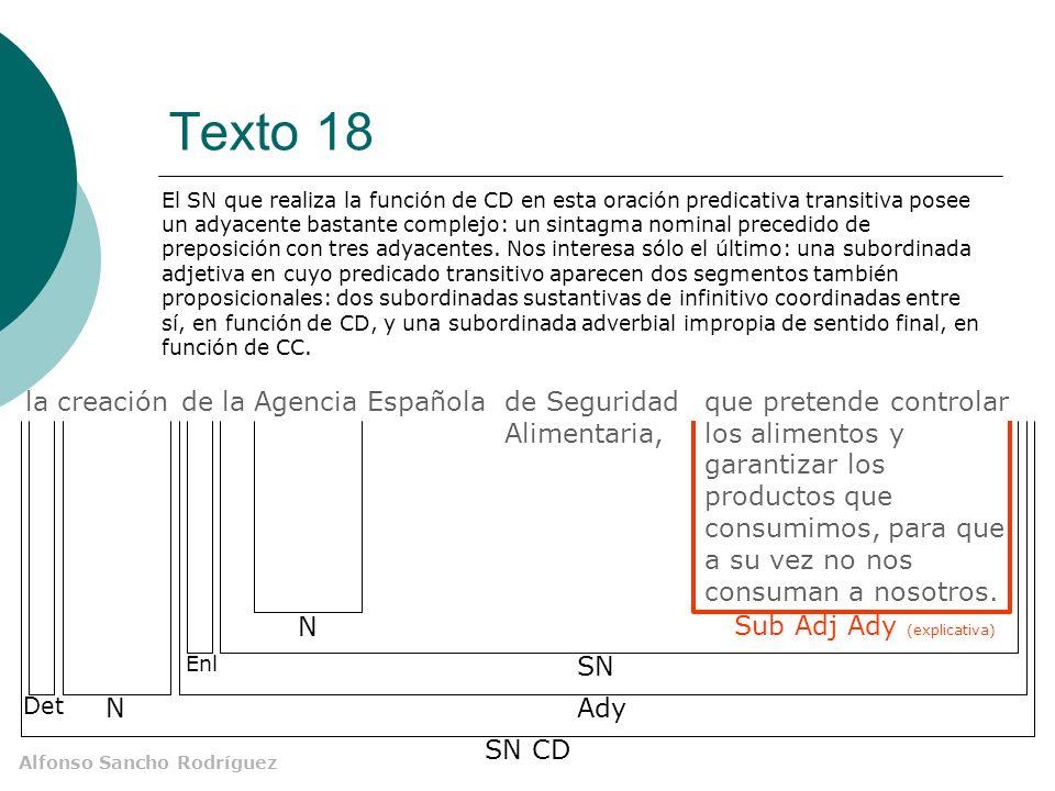 Alfonso Sancho Rodríguez Texto 18 que pretende controlar los alimentos y garantizar los productos que consumimos, para que a su vez no nos consuman a
