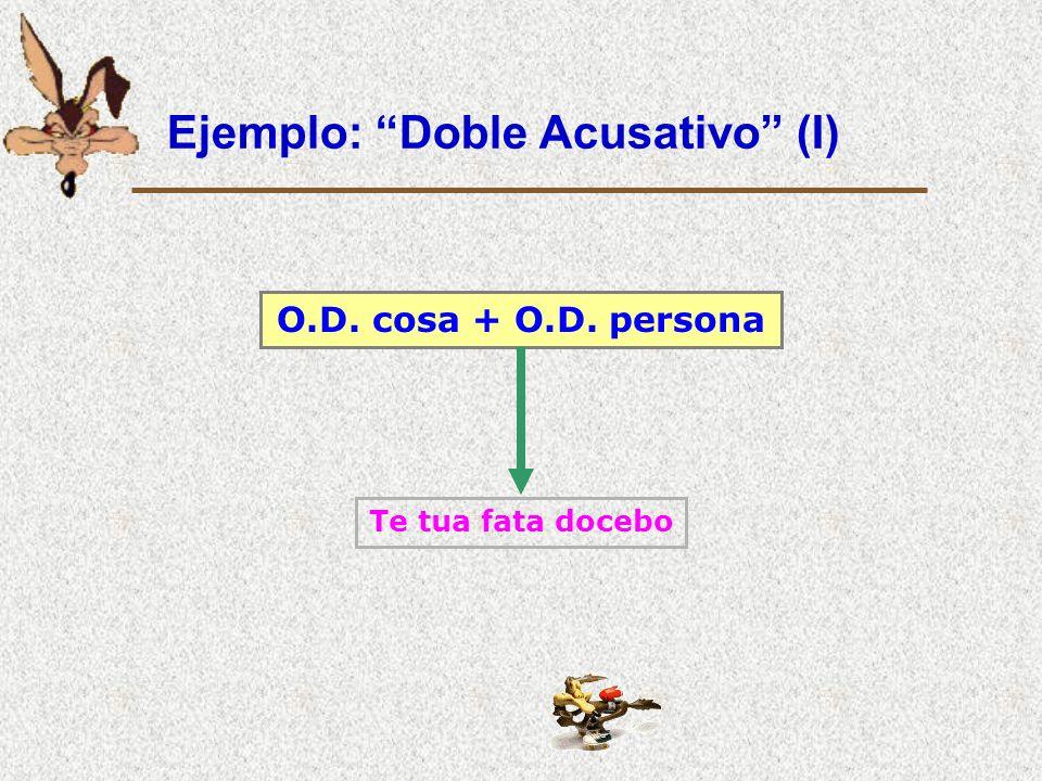 Ejemplo: Acusativo adverbial Acus. adverbial Partim, secundum