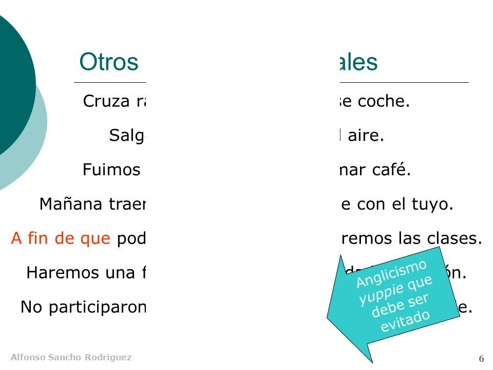 Alfonso Sancho Rodríguez 5 El transpositor a que Charo se ha acostumbrado a quela mimen.