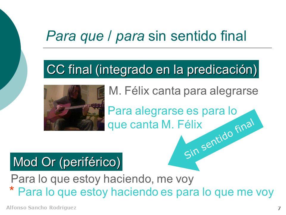 Alfonso Sancho Rodríguez 6 Otros transpositores finales Cruza rápido, que no te pille ese coche.