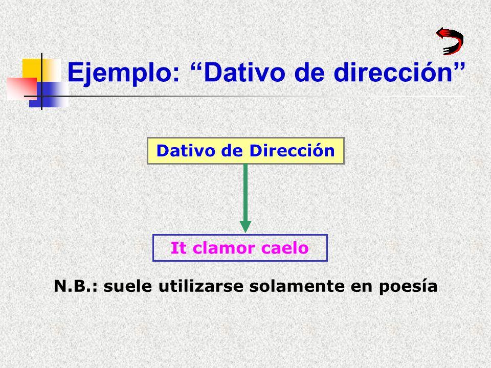 Ejemplos: Doble dativo Doble Dativo Hoc est mihi laudi Caesar duas cohortes castris praesidio relinquit