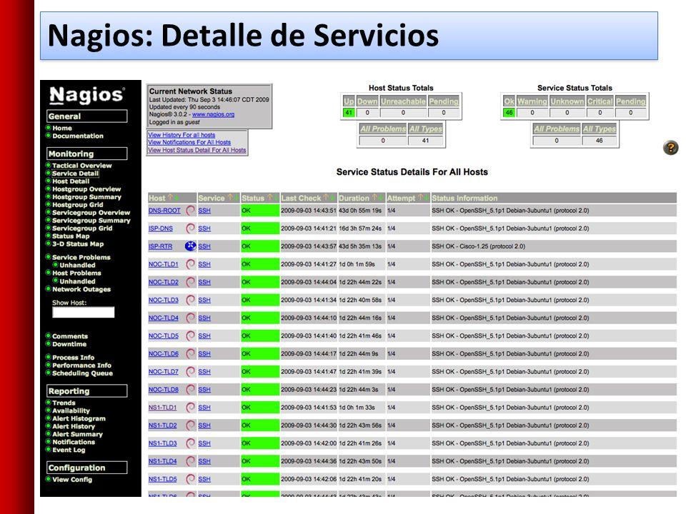 Nagios: Detalle de Servicios