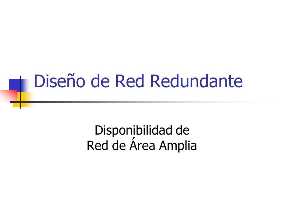 Diseño de Red Redundante Disponibilidad de Red de Área Amplia