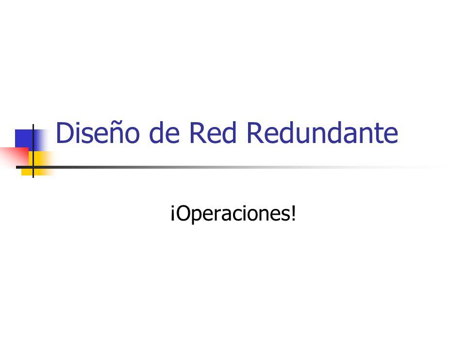 Diseño de Red Redundante ¡Operaciones!