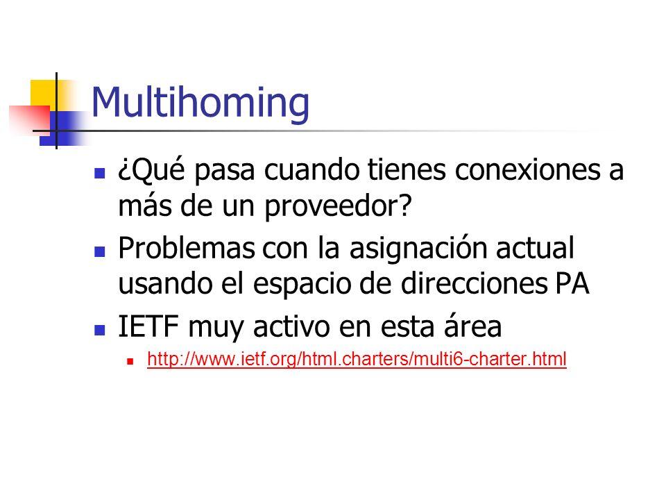 Multihoming ¿Qué pasa cuando tienes conexiones a más de un proveedor? Problemas con la asignación actual usando el espacio de direcciones PA IETF muy