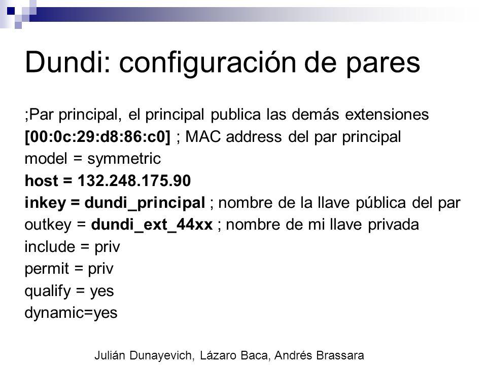 Dundi: configuración de pares ;Par principal, el principal publica las demás extensiones [00:0c:29:d8:86:c0] ; MAC address del par principal model = s
