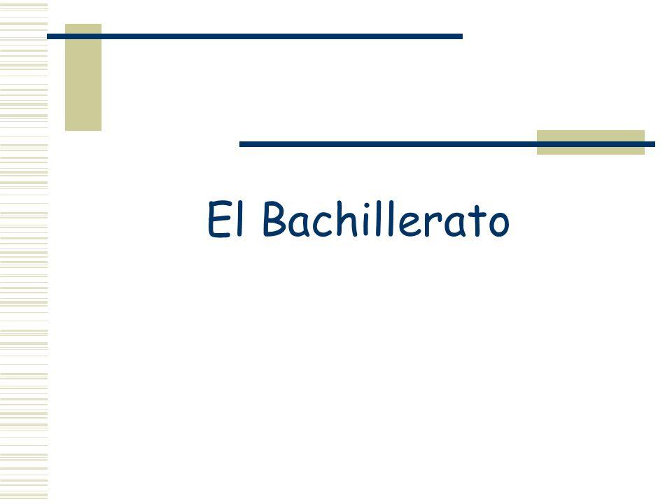 El Bachillerato
