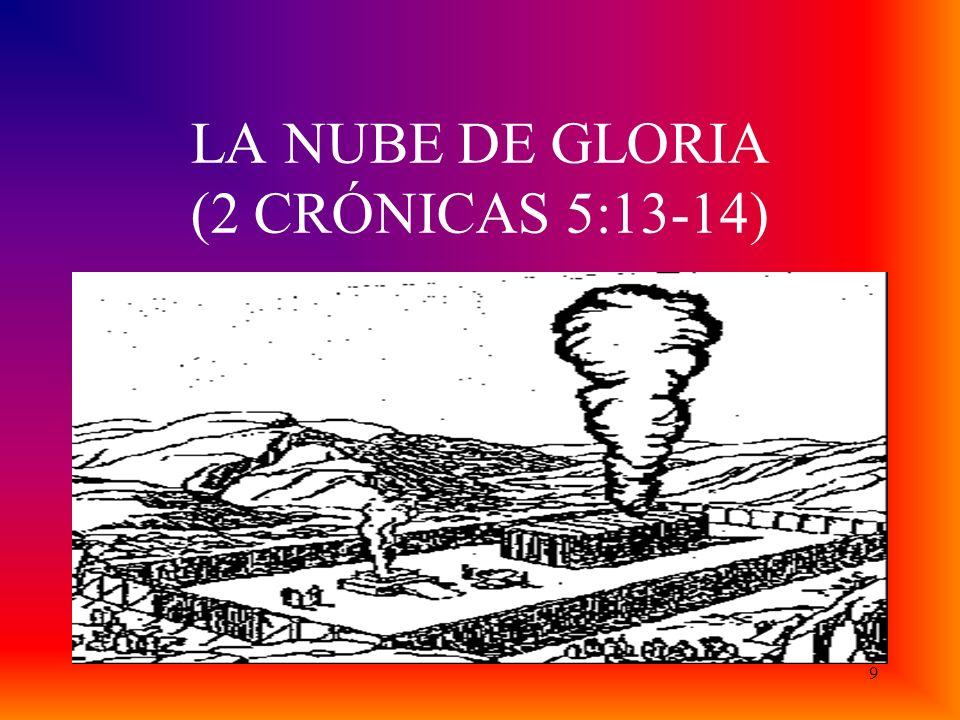 LA NUBE DE GLORIA (2 CRÓNICAS 5:13-14) 9