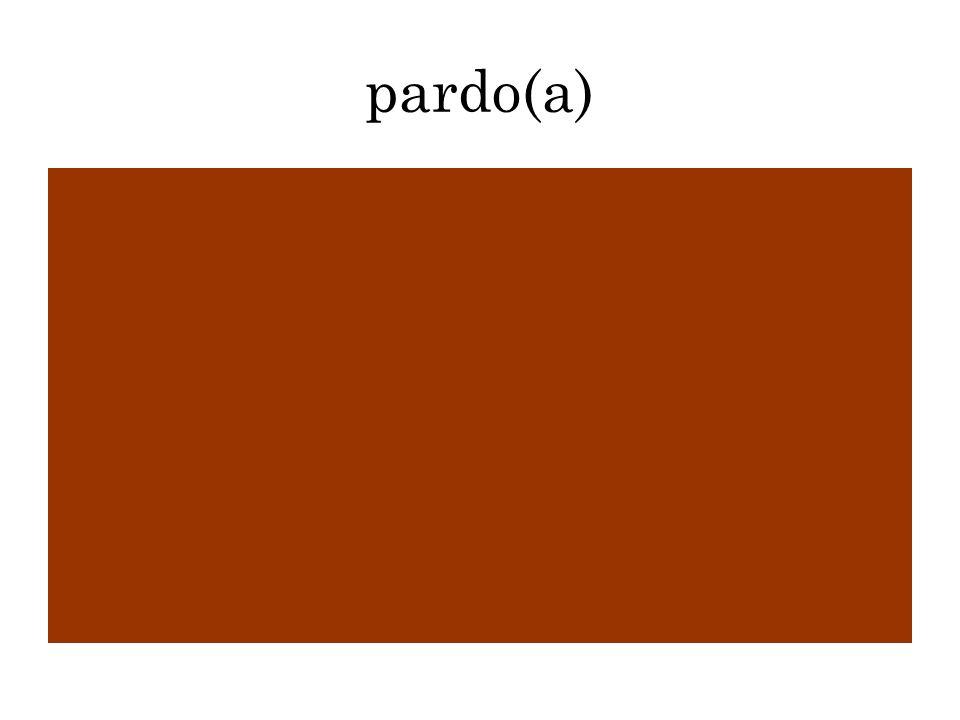 pardo(a)
