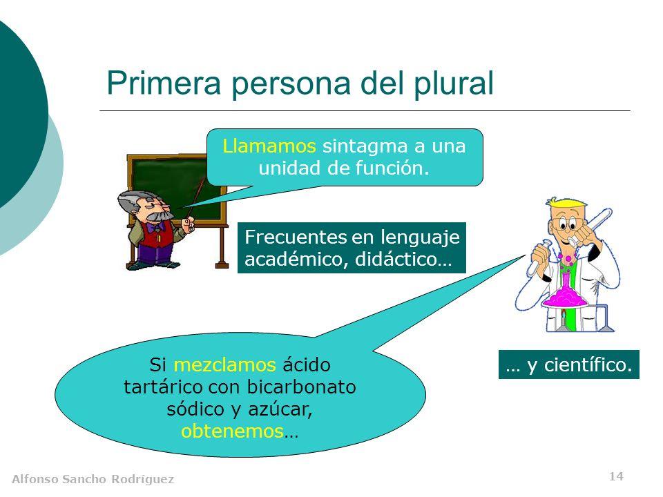 Alfonso Sancho Rodríguez 13 Tercera persona del plural Llaman a la puerta.