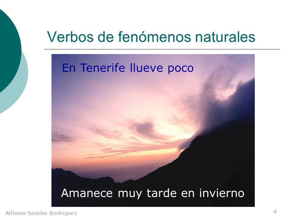 Alfonso Sancho Rodríguez 3 Clasificación Impersonales Gramaticales De se Tercera persona del plural Hay muchos vagos aquí.