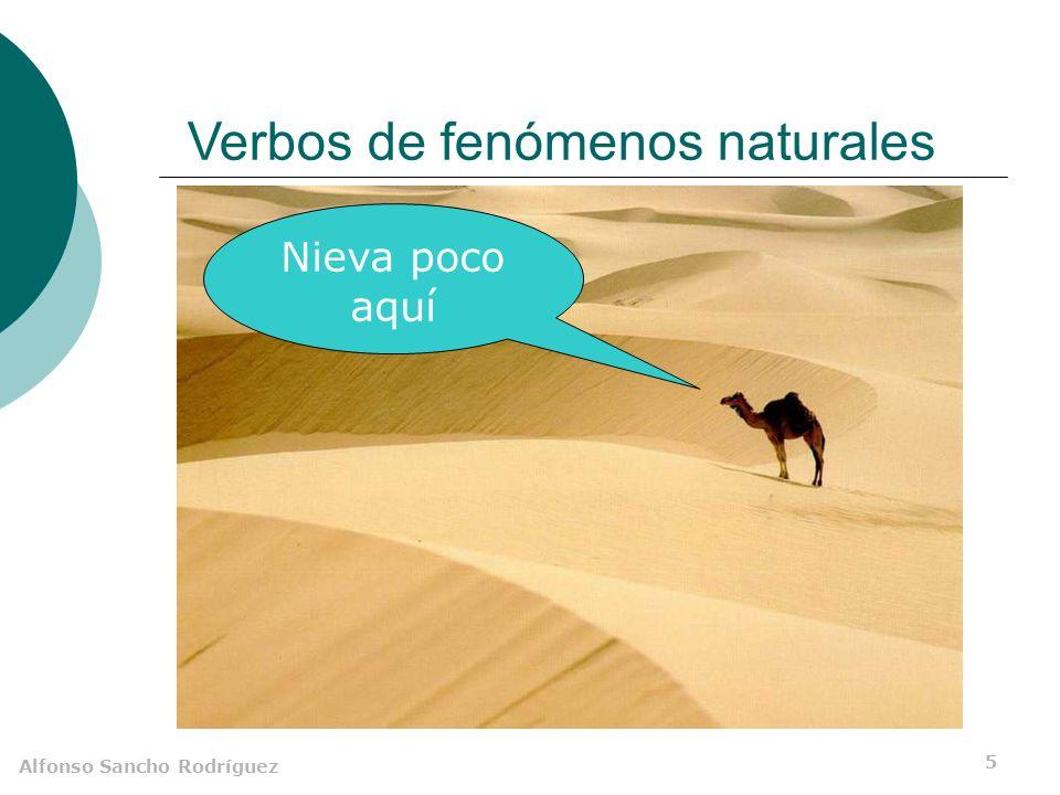 Alfonso Sancho Rodríguez 4 Verbos de fenómenos naturales Amanece muy tarde en invierno En Tenerife llueve poco