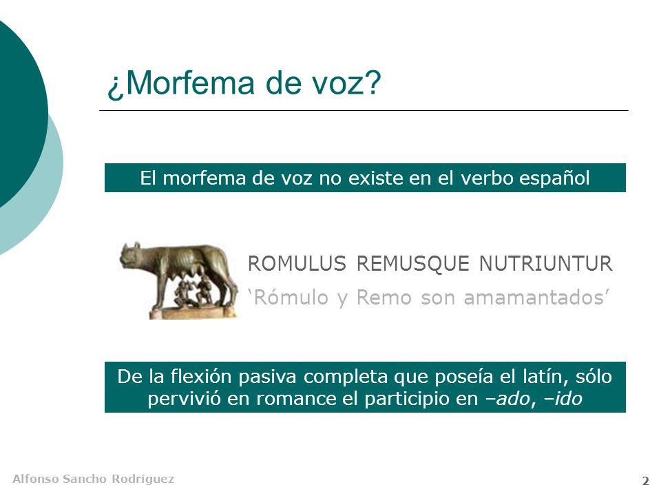 Alfonso Sancho Rodríguez 1 Pasiva Estructura sintáctica en la que el sujeto gramatical no es agente sino paciente de la acción expresada por el verbo.