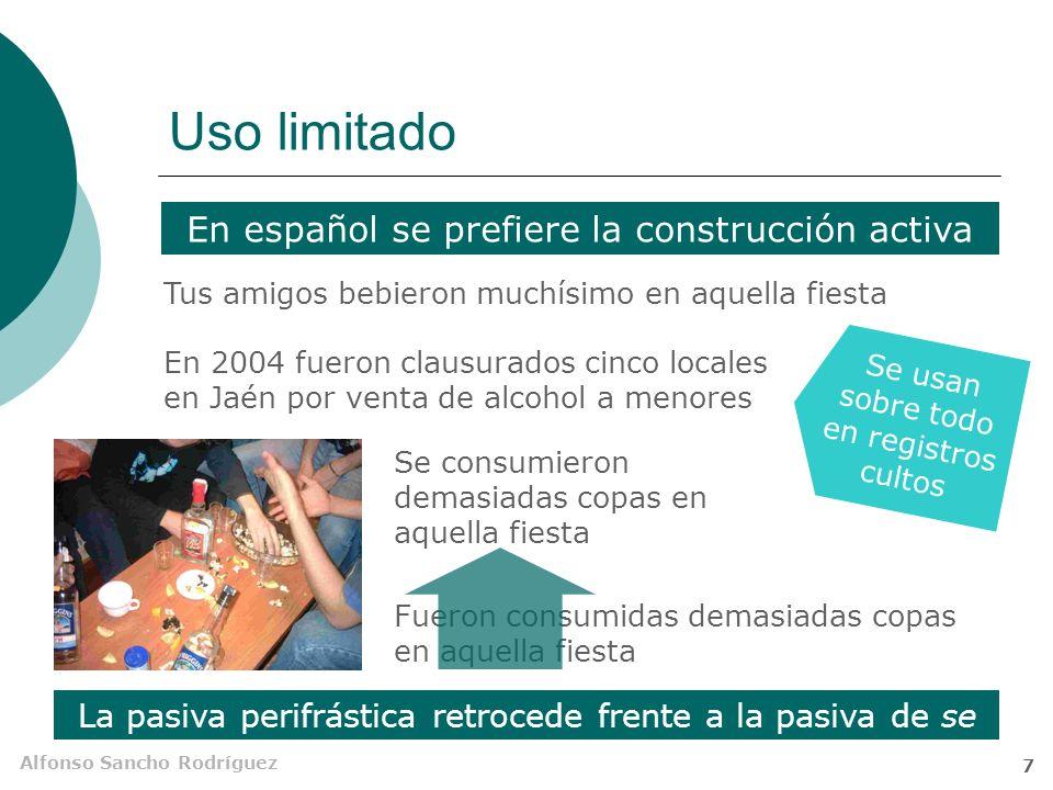 Alfonso Sancho Rodríguez 6 ¿Pasivas o atributivas.