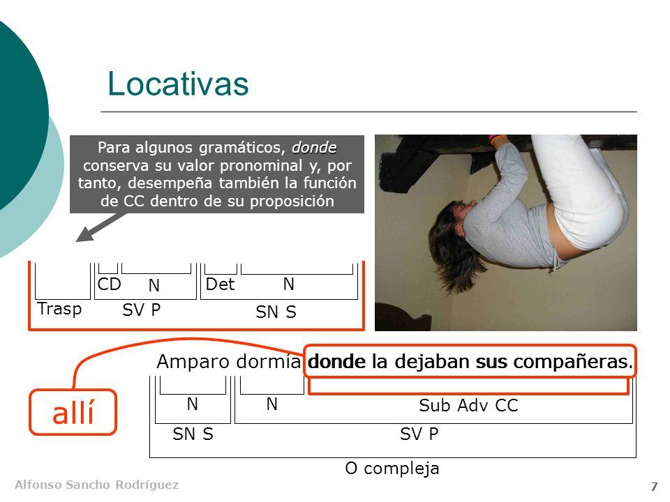 Alfonso Sancho Rodríguez 7 Locativas Amparo dormía donde la dejaban sus compañeras.