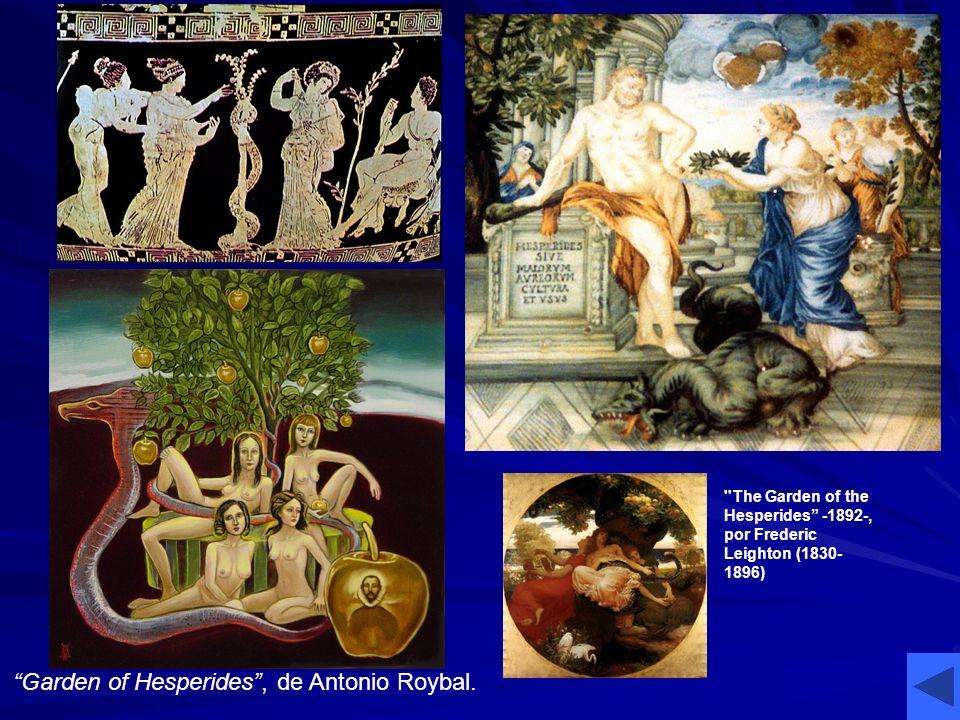 Garden of Hesperides, de Antonio Roybal. ''The Garden of the Hesperides -1892-, por Frederic Leighton (1830- 1896)